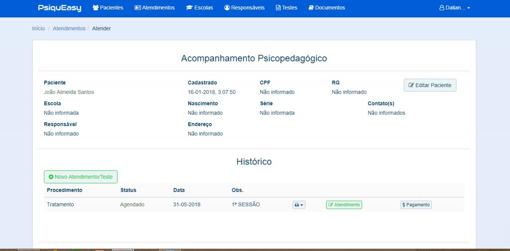 Ficha de Acompanhamento Psiopedagogico