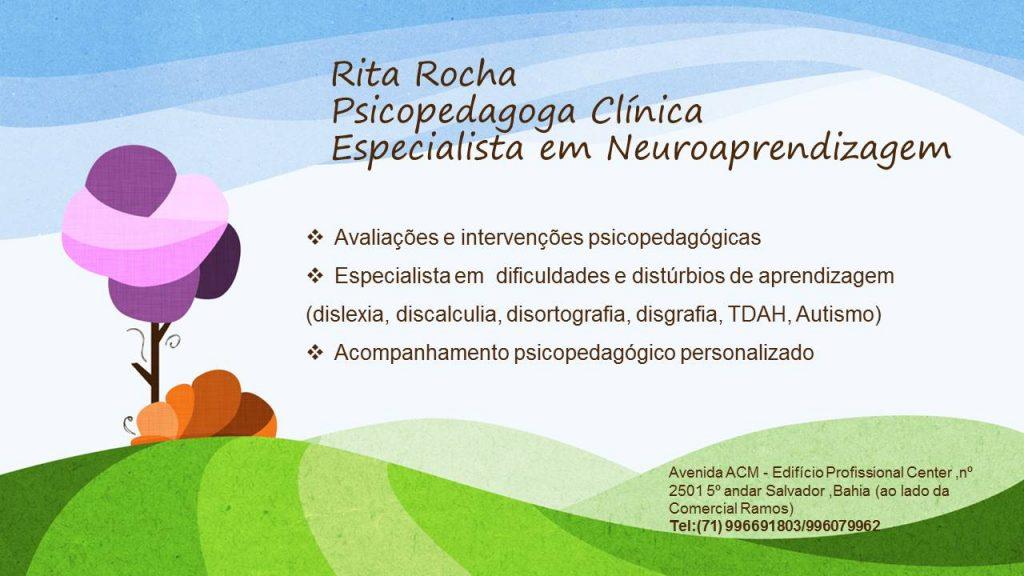 Psicopedagoga Rita Rocha Salvador Bahia