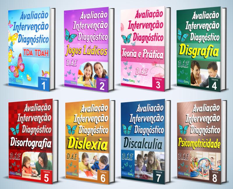 capas da coleção de Materiais para Dificuldades Específicas de Aprendizagem – DAE