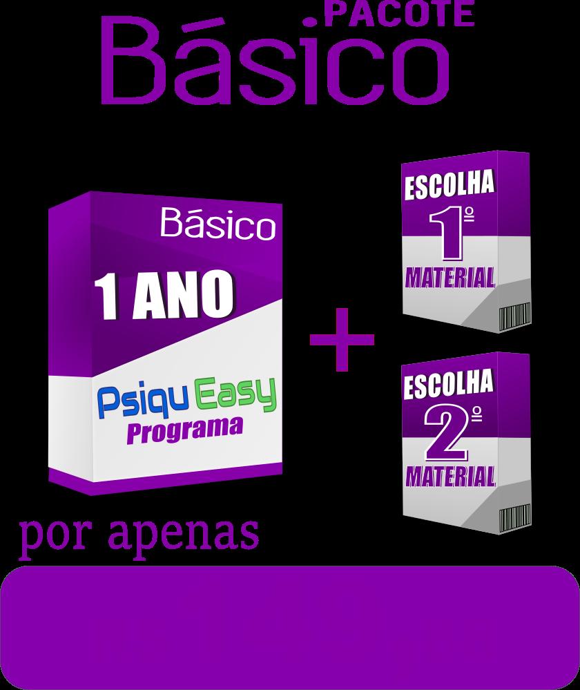 """Pacote Básico Sistema PsiquEasy 1 ano + 2 materiais """"ESCOLHA OS SEUS"""""""