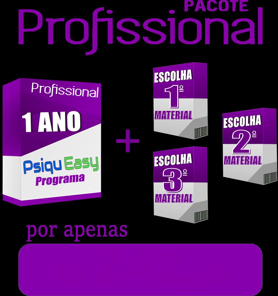 """Plano ProfissionalSistema PsiquEasy1 ano + 3 materiais """"ESCOLHA OS SEUS"""""""